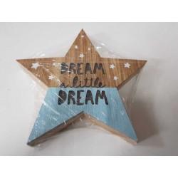 Llum estrella fusta 156412