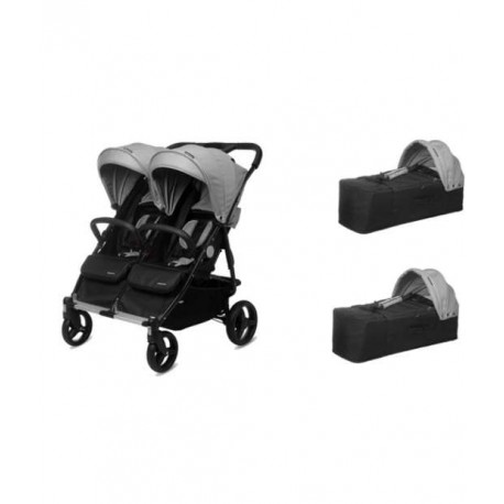 Cotxet bessons Baby Twin Silver