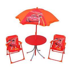 Mesa+sillas playa Cars