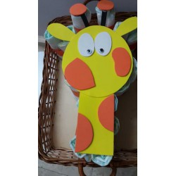 Pastel pañales jirafa