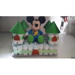 Pastel pañales castillo